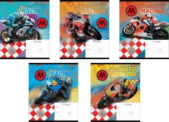 Тетрадь,18л Moto Racing (Линейка)