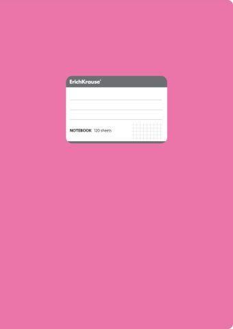 Тетрадь общая А4, FLUOR, 120 листов, клетка (Розовый)