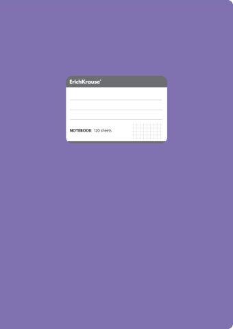 Тетрадь общая А4, FLUOR, 120 листов, клетка (Фиолетовый)