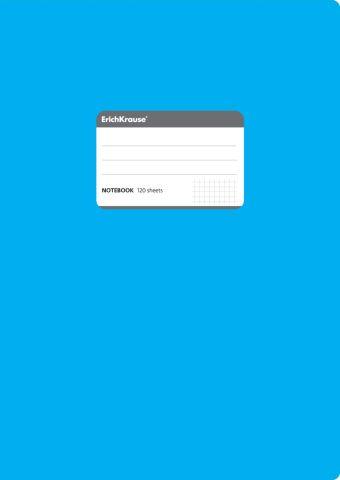 Тетрадь общая А4, FLUOR, 120 листов, клетка (Синий)