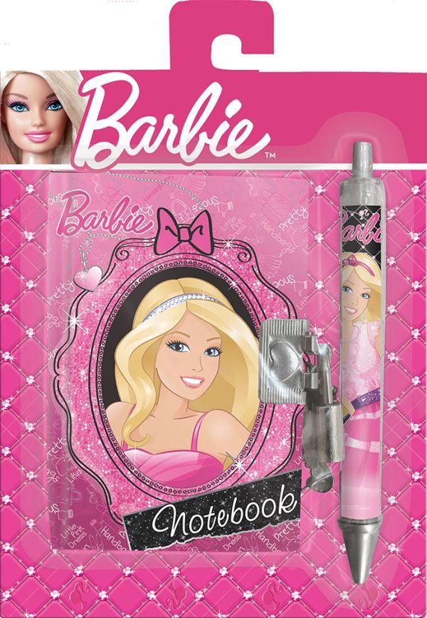 Набор подарочный Barbie : секретный дневник на замке, ручка