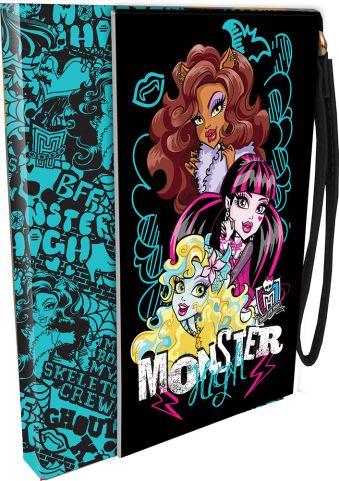 Ноутбук с ручкой из искуств.кожи 100л Monster High