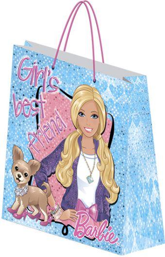 Пакет подарочный бумажный Barbie 28х34х95 лам