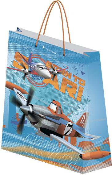 Пакет подарочный бумажный Planes 28х34х9 лам
