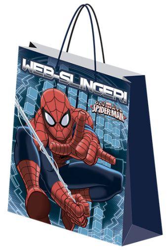 Пакет подарочный бумажный Spiderman 18х21х8,5 лам