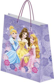 Пакет подарочный бумажный Принцессы 41,5х55х15,5 лам