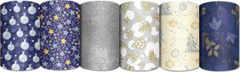 Бумага упаковочная 70 х 150 см, Новый год рулон в термоусад