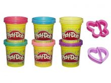 Play-Doh Набор пластилина из 6 баночек Блестящая коллекция (A5417)