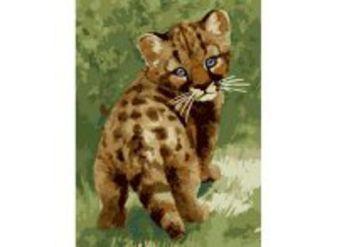 Живопись на холсте. Размер 30*40 см.. Детеныш леопарда (008-CE )