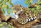 Набор для хобби и творчества Живопись на холсте. Размер 30*40 см.. Леопард в лесу (240-CE )