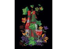 Картины со стразами. Натюрморт с вином (202-RS )