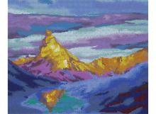 Картины со стразами. Озеро Бессмертных.Горы Кавказа (608-RS )