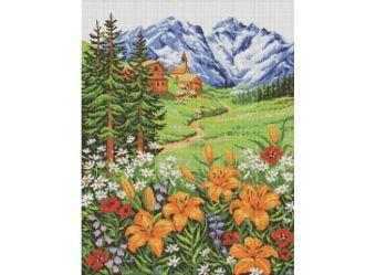 Мозаичные картины. Альпийский пейзаж (147-ST )