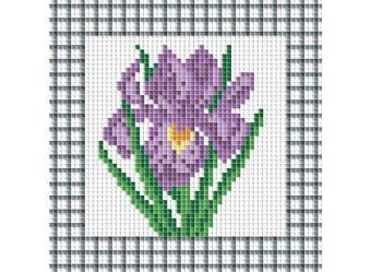 Мозаичные картины. Фиолетовый ирис (034-ST )