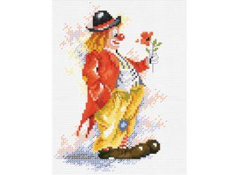 Наборы для вышивания. Клоун с цветком (452-14 )
