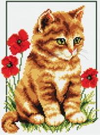 Набор для хобби и творчества Наборы для вышивания. Котенок в цветах (855-14 )