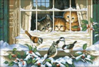 Наборы для вышивания. Кошачий интерес (2337-14 )