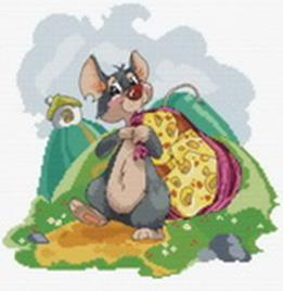 Наборы для вышивания. Мышка с сыром (141-14 )