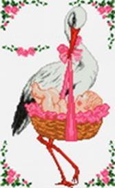 Наборы для вышивания. С рождением девочки! (933-14 )