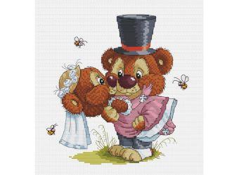 Набор для хобби и творчества Наборы для вышивания. Свадьба (128-14 )