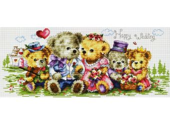Набор для хобби и творчества Наборы для вышивания. Семейка медвежат (1708-14 )