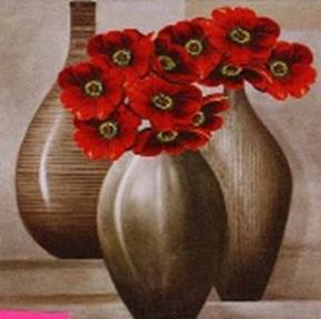 Набор для хобби и творчества Наборы для вышивания в формате 3D. Красные цветы (7019-3D )