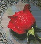 Набор для хобби и творчества Наборы для вышивания с водорастворимым рисунком на канве. Красный бутон (7505-РК )