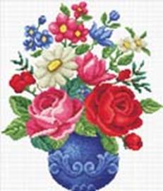 Наборы для вышивания с водорастворимым рисунком на канве. Любимый букет (7510-РК )