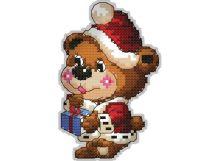 Наборы для вышивания. Брелок 6050 Медвежонок с подарком