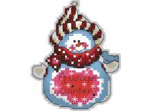 Наборы для вышивания. Брелок 6053 Снеговик