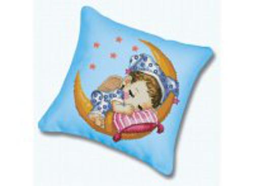 Наборы для вышивания. Подушка 332 Сладкий сон (канва голубая)