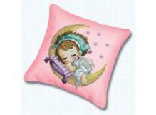Наборы для вышивания. Подушка 350 Нежный сон (канва розовая)