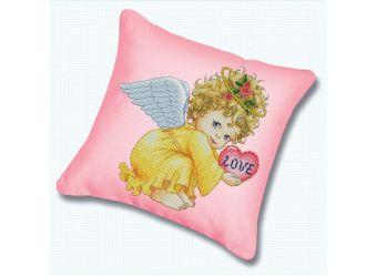 Набор для хобби и творчества Наборы для вышивания. Подушка 800 Маленький ангел (канва розовая)