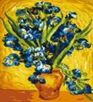 Набор для хобби и творчества Живопись на холсте.Размер 40*50 см.. Ирисы Ван Гог (006-CG )