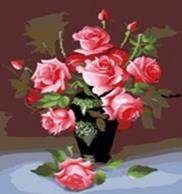 Живопись на холсте.Размер 40*50 см.. Букет роз (079-CG )