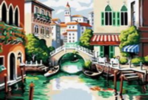Живопись на холсте.Размер 40*50 см.. Венеция (175-CG )