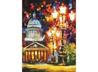 Живопись на холсте.Размер 60*80 см.. Мерцание ночи Санкт-Петербурга (2002-AM )