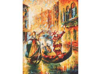 Живопись на холсте.Размер 60*80 см.. Венецианская гондола (2010-AM )