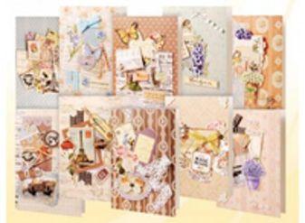 Наборы для скрапбукинга. Набор для создания 10-ти открыток (251-SB )