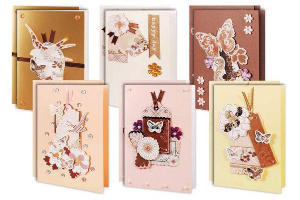 """Наборы для скрапбукинга. Набор для создания 12-ти открыток """"В розовых тонах"""" (301-SB )"""
