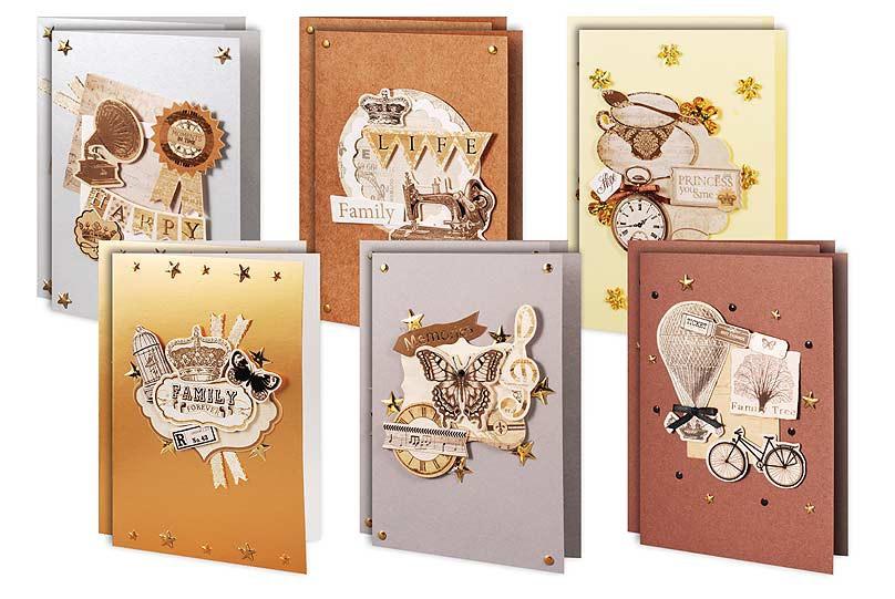 """Наборы для скрапбукинга. Набор для создания 12-ти открыток """"Ретро"""" (302-SB ) наборы для поделок белоснежка наборы для скрапбукинга набор для создания 6 ти открыток бабочки 217 sb"""