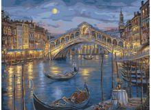 Живопись на холсте.Размер 40*50 см.. Венецианская ночь (846-AB )