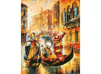 Живопись на холсте.Размер 40*50 см.. Венецианская гондола (874-AB )