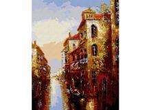 Живопись на цветном холсте 40*50 . Канал в Венеции (010-CG-C)