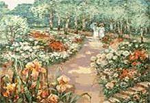 Живопись на цветном холсте 40*50 . Сто лет назад (042-AB-C)