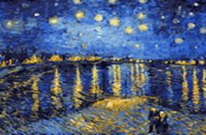 Живопись на цветном холсте 40*50 . Ночная романтика (323-CG-C)