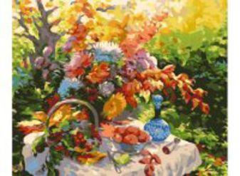 Живопись на цветном холсте 40*50 . Дары природы (549-CG-C)