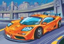 Живопись на цветном холсте 40*50 . McLaren F1 GTR (855-AB-C)