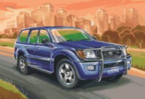 Живопись на цветном холсте 40*50 . Toyota Land Cruiser (856-AB-C)