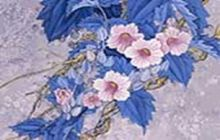 Живопись на цветном холсте 40*50 . Цветущая ветвь (905-AB-C)